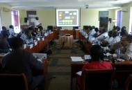 Video Projector on action in a meeting